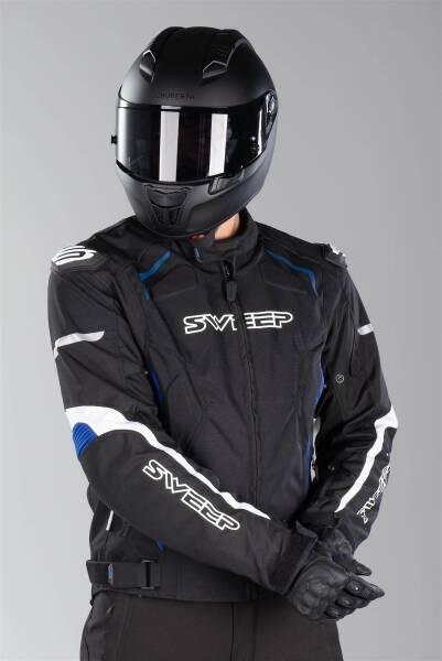 Veste de Moto d/ét/é en Cordura//Mesh Chicane imperm/éable//Renforts CE Noir M