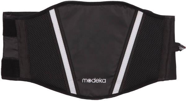 Modeka Moto Ceinture Reins Ceinture 6018 Noir Avec Fermeture Velcro
