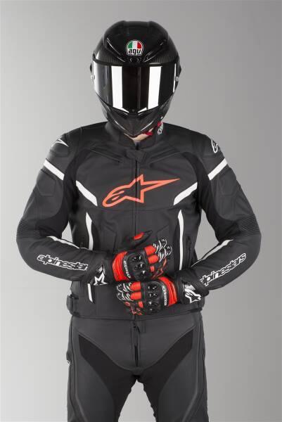 Blouson moto Cuir ALPINESTARS GP PLUS R V2 Noir Blanc Motovip