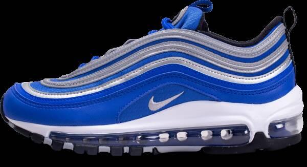 Nike Enfant Air Max 97 Noire Bleu Et Argenté Baskets 37 1/2
