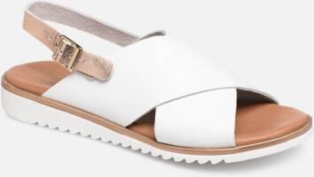 Sandale compensée femme Mephisto en cuir relief