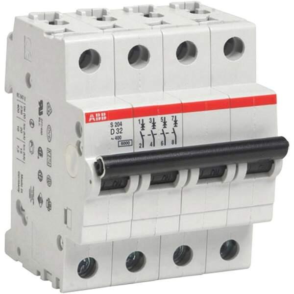 ABB S204/C40/Interrupteur automatique 6/kA 4p