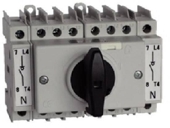 KO n16 Installation Commutateur 9 KW 4pol. 48x48 Interrupteur principal 16 A 031 Moteur Commutateur