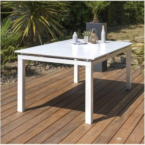 Oceo Table aluminium 180/240 x 100 cm Fiero coloris m