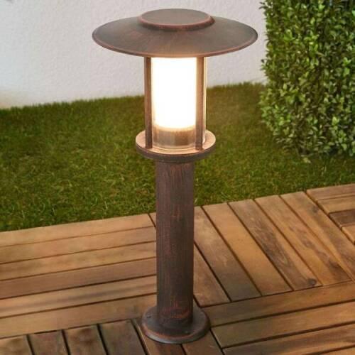 en Gris en Inox Moderne de Lampenwelt eclairage exterieur luminaire exterieur luminaire Luminaire ext/érieur Erina 1 lampe,/à E27, A++ borne lumineuse exterieur borne eclairage exterieur
