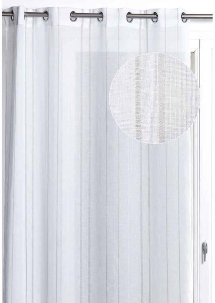ray/é pr/êt /à Poser Panneau Japonais Casablanca Light//Voilage Coulissant kit de Fixation fourni Noir G/özze Voile Transparent Effet Soie tiss/ée tr/ès Belle qualit/é 245x60 cm