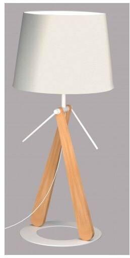 Lampe A Poser Socle En Bois Noir Cloche En Verre Trois