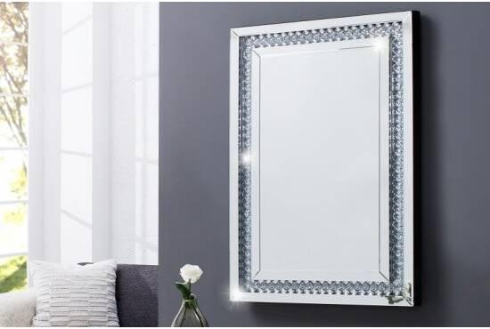 Declikdeco CMiroir capitonné Strass blanc 70x145 cm