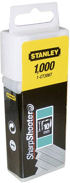 Stanley 1-CT106T Agrafe cavalier 10 mm Type 7 Bo/îte 1000 pi/èces