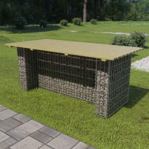 Table de jardin avec plateau granit noir flambé 180 cm GROSSETO