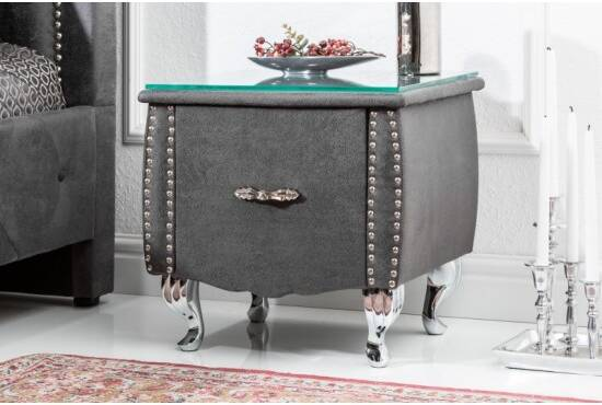 Eva cuir Table simili chevet design en EHIYeW2D9b