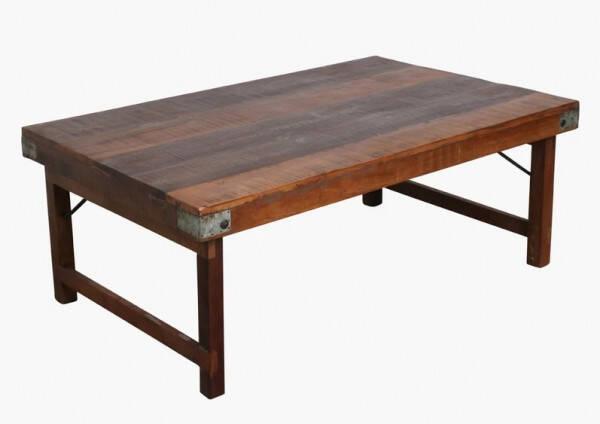 marron basse tronc d'arbre Table bois massif rustique en N0wm8n