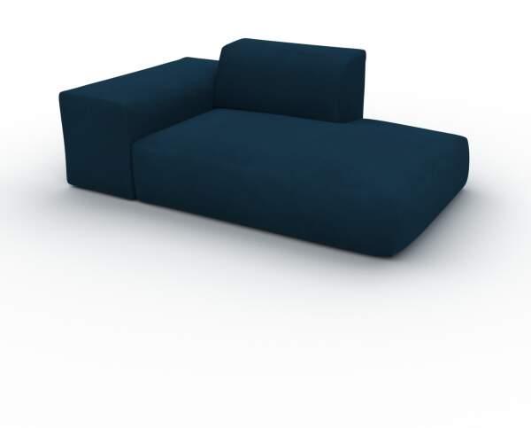 Canapé - Bleu Nuit, forme arrondie, canapé bas et profond pour salon, en  tissu sans pieds - 182 x 72 x 107 cm, modulable