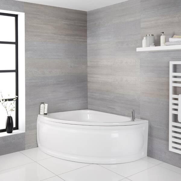 Tablier Acrylique Renforce En L Pour Baignoire Hall 1700x750mm Blanc